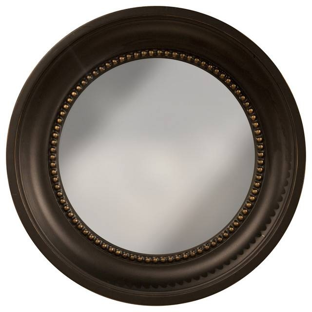 Colonial Convex Mirror, Black And Gold – Contemporary – Wall With Regard To Black Convex Mirrors (#9 of 20)