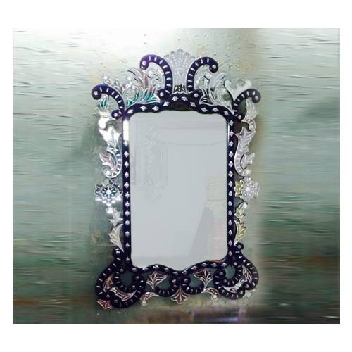 Color Venetian Mirror – Oval Venetian Mirror And Black Colored Mirror With Regard To Black Venetian Mirrors (#17 of 30)