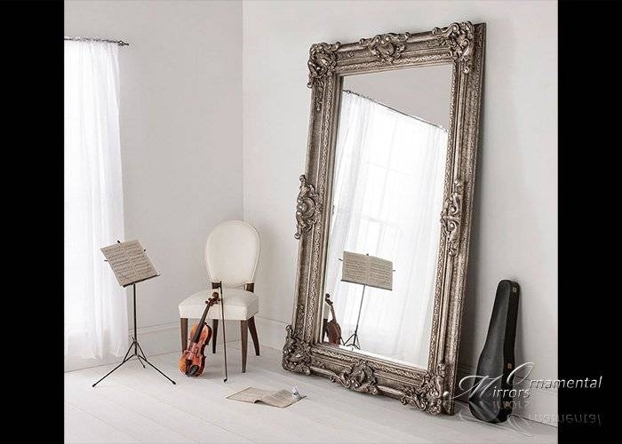 Colossus Extra Large Silver Mirror Throughout Large Ornamental Mirrors (View 6 of 15)