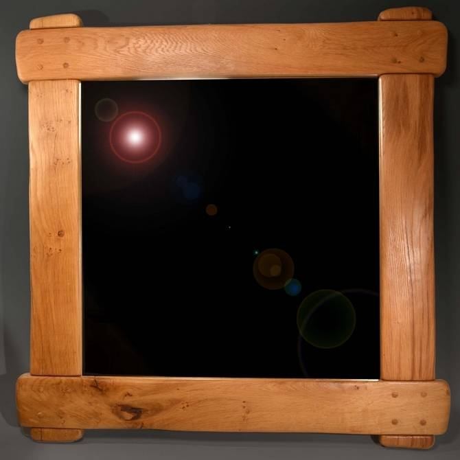 Commissions – Rustic Oak Framed Mirror Intended For Rustic Oak Mirrors (#6 of 20)