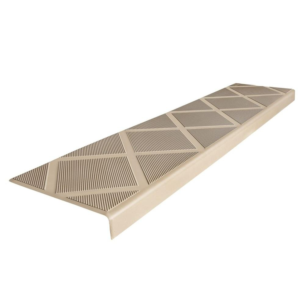 Composigrip Composite Anti Slip Stair Tread 48 In Beige Step Intended For Stair Slip Guards (#8 of 20)