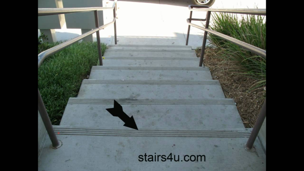 Concrete Stairs With Anti Slip Protection Renovation And With Skid Resistant Stair Treads (#7 of 20)