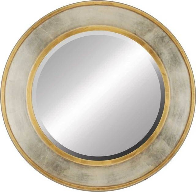 Contempo Gold / Silver Round Wall Mirror – Transitional – Wall Within Silver Round Mirrors (#13 of 30)