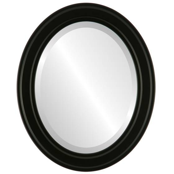 Contemporary Black Oval Mirrors From $111   Free Shipping Pertaining To Black Oval Mirrors (#19 of 30)