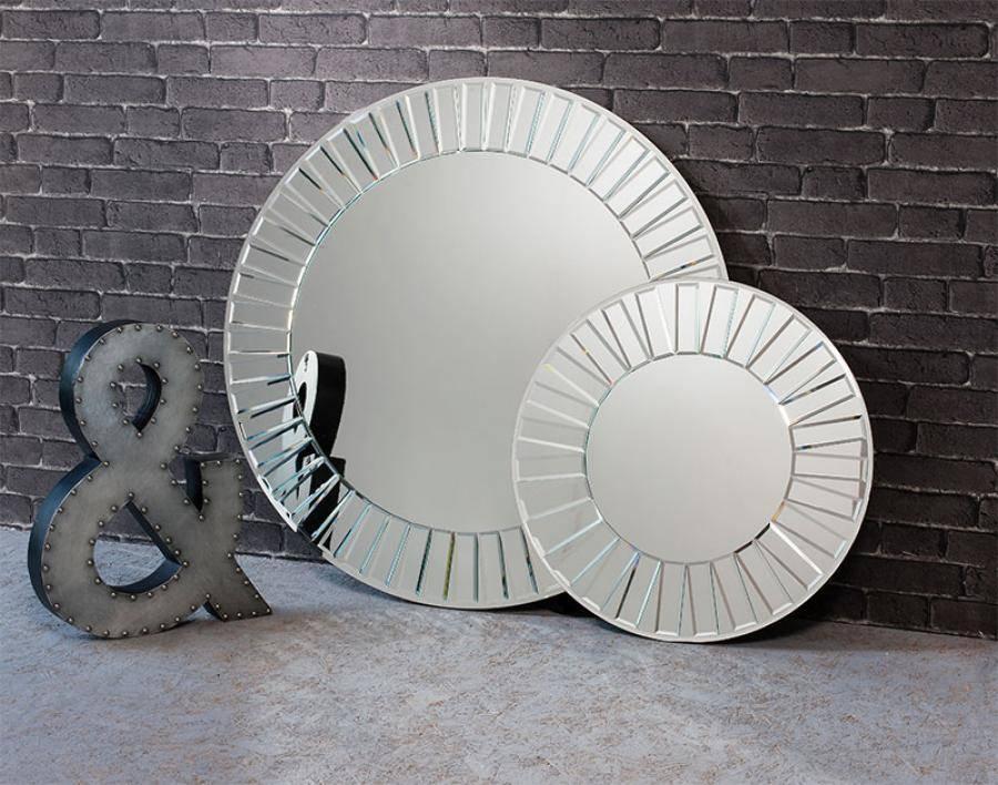 Contemporary Gallery Mirrored Frame Mondello Round Mirror Choice In Contemporary Round Mirrors (View 9 of 20)