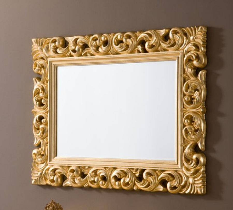 Contemporary Ornate Mirror In Gold Colour Finish In Gold Ornate Mirrors (#12 of 20)