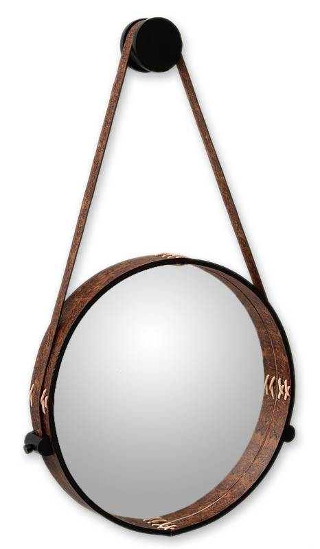 Contemporary Rustic Leather Wall Mirror – New Moon | Novica Throughout Leather Wall Mirrors (View 6 of 20)
