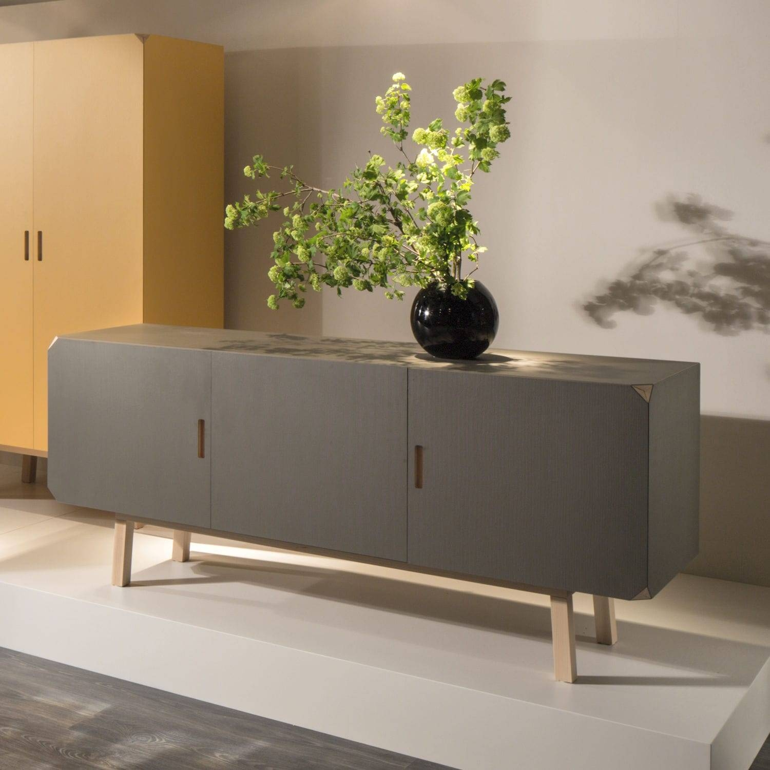 Contemporary Sideboard / Beech / Gray – Cartalegnogiulio For Beech Sideboards (#7 of 20)