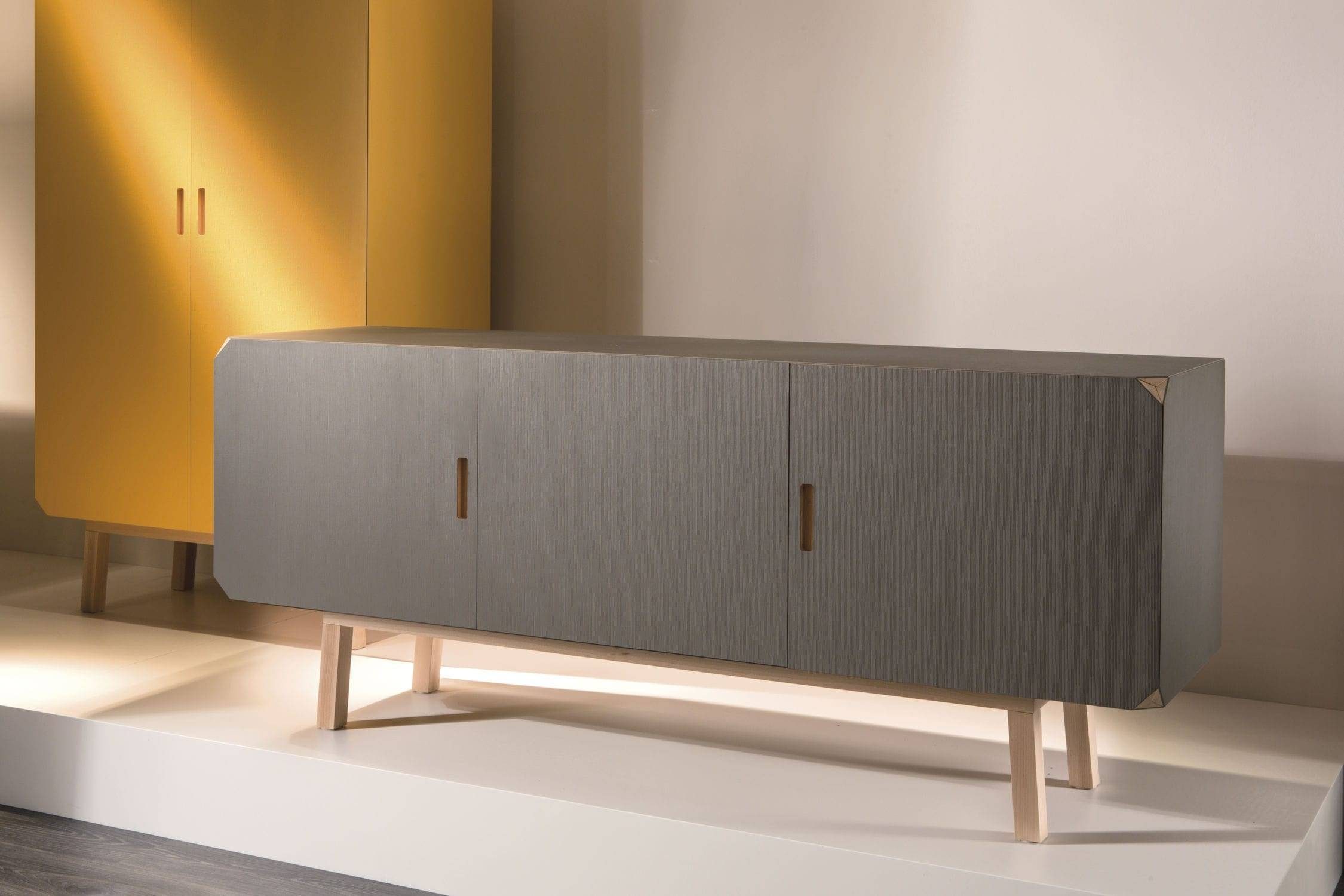 Contemporary Sideboard / Beech / Gray – Cartalegnogiulio Intended For Beech Sideboards (#8 of 20)
