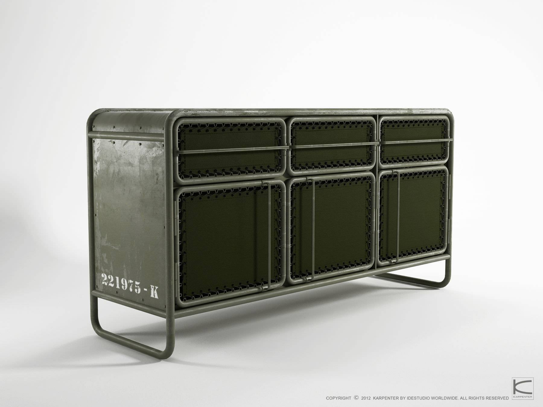 Contemporary Sideboard / Metal / Recycled – Ds07 – Karpenter Pertaining To Metal Sideboards (View 10 of 20)