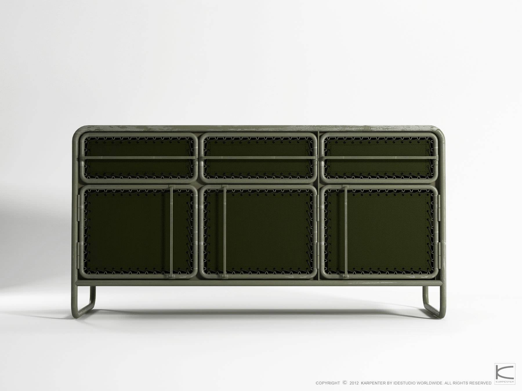 Contemporary Sideboard / Metal / Recycled – Ds07 – Karpenter Pertaining To Metal Sideboards (View 2 of 20)
