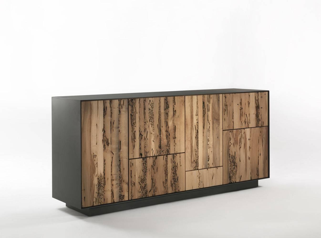 Contemporary Sideboard / Oak / Walnut / Metal – Rialto Modulo Regarding Metal Sideboards (View 17 of 20)