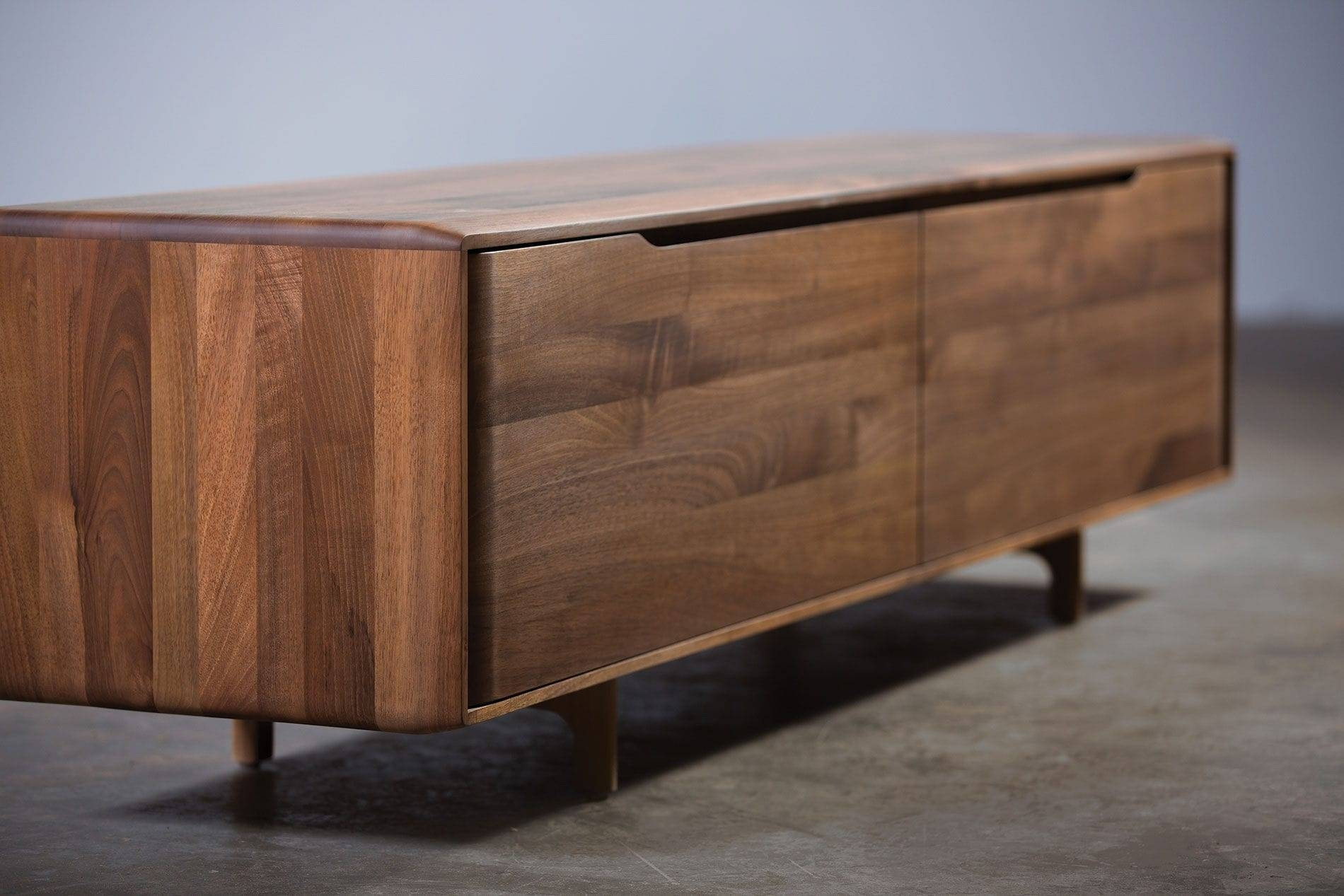 Contemporary Sideboard / Oak / Walnut / Solid Wood – Invito Regarding Small Dark Wood Sideboard (#2 of 20)