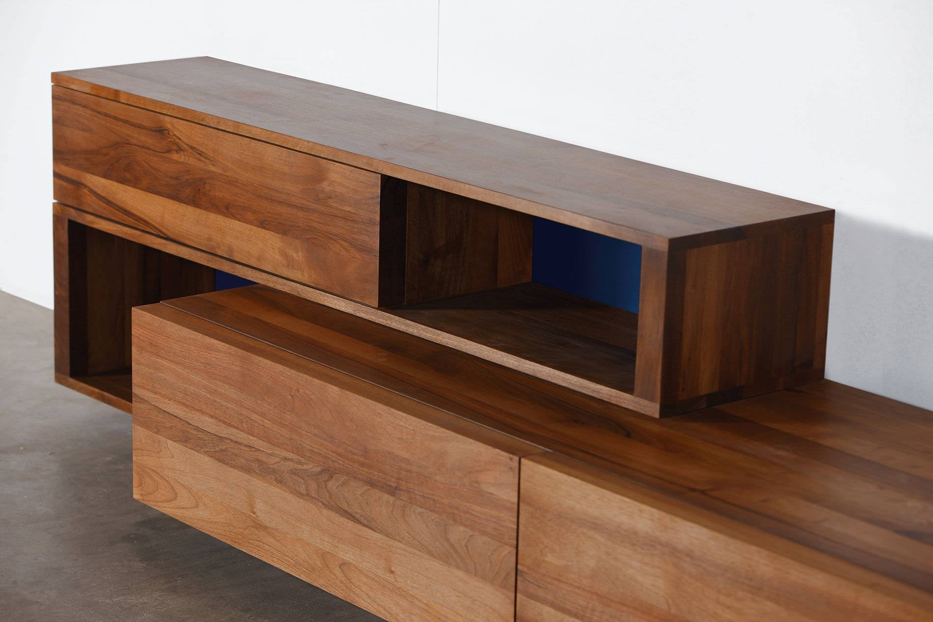 Contemporary Sideboard / Oak / Walnut / Solid Wood – Log With Regard To Real Wood Sideboard (#4 of 20)