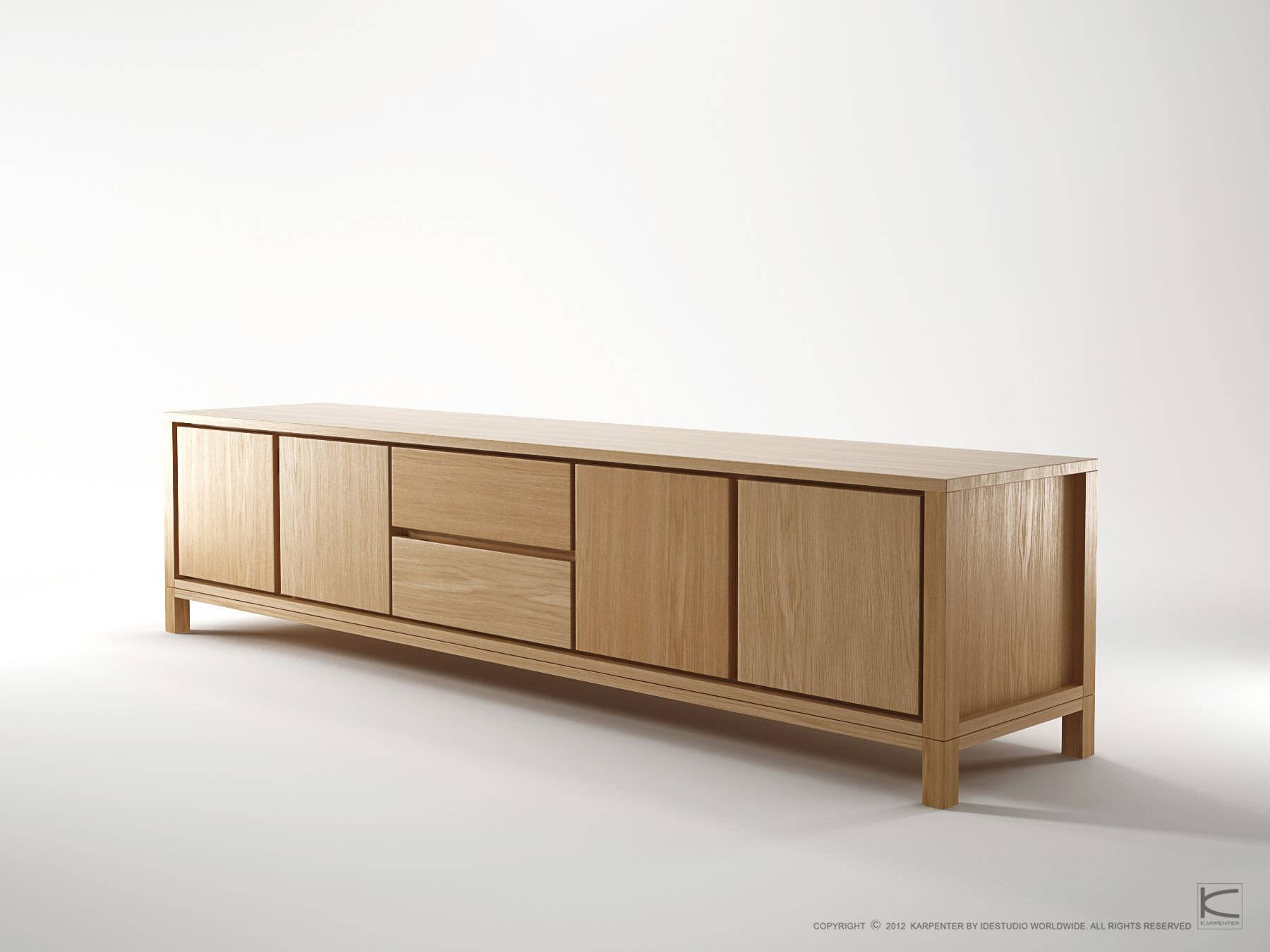 Contemporary Sideboard / Oak / Walnut / Solid Wood – Solid – Karpenter Regarding Real Wood Sideboard (#5 of 20)