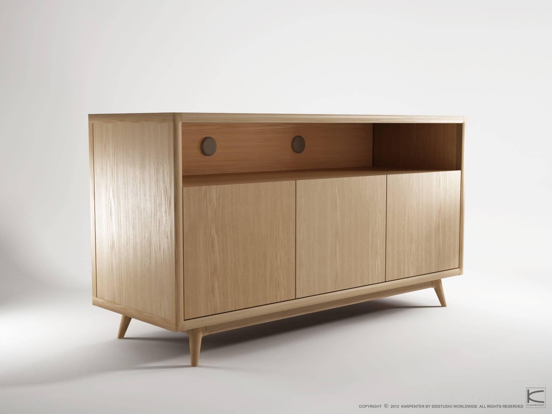 Contemporary Sideboard / Oak / Walnut / Teak – Vi20 – Karpenter In Contemporary Oak Sideboard (View 6 of 20)