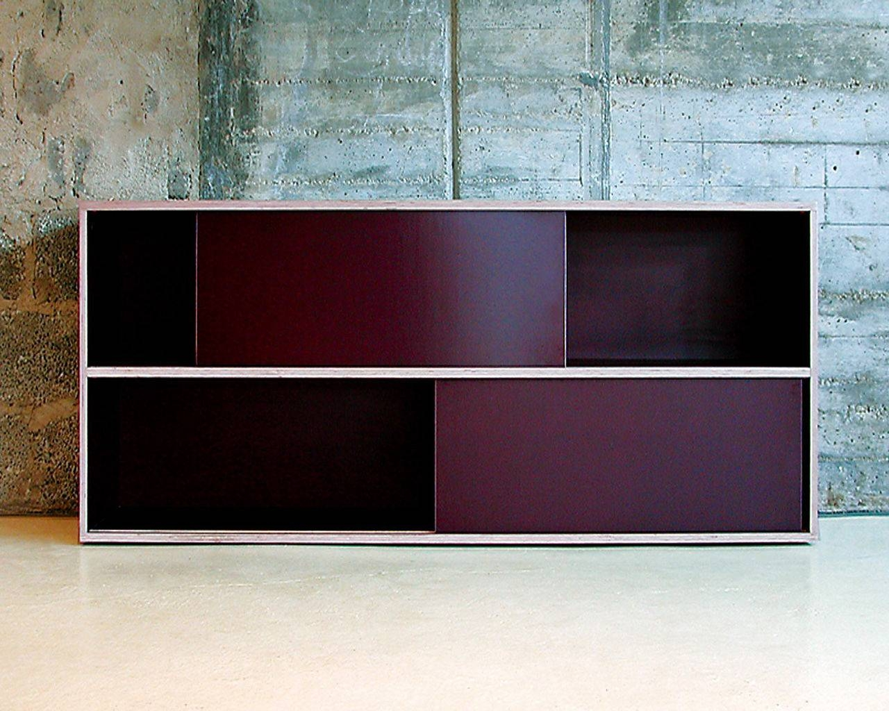 Contemporary Sideboard / Plywood / Resin / On Casters – Store Inside Purple Sideboard (#4 of 20)
