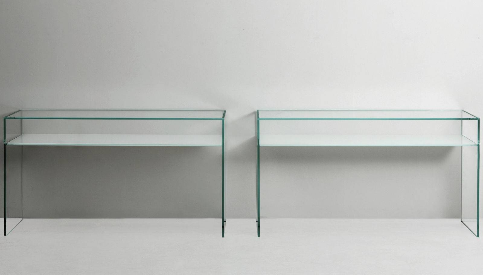 Contemporary Sideboard Table / Tempered Glass / Lacquered Glass Regarding Glass Sideboard (#4 of 20)
