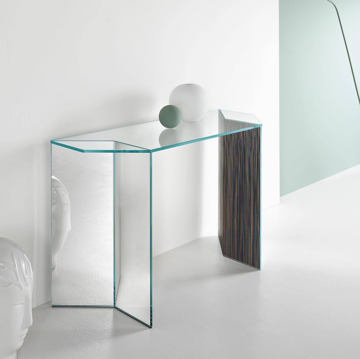 Contemporary Sideboard Table / Wooden / Glass – Miragematteo Intended For Glass Sideboard (#5 of 20)