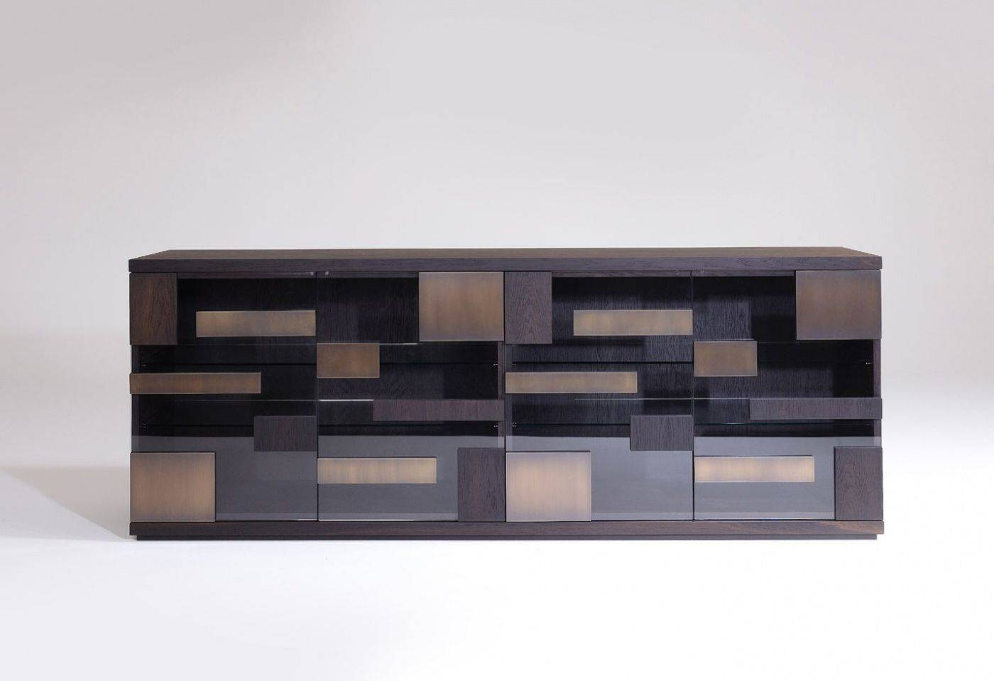 Contemporary Sideboard / Wooden / Glass /ferruccio Laviani Regarding Glass Sideboards (#5 of 20)