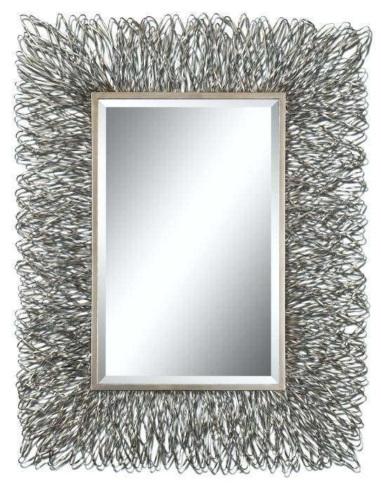 Contemporary Wall Art Mirrorcontemporary Metal Diamante Mirror With Regard To Large Contemporary Mirrors (#7 of 30)