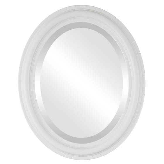 Contemporary White Oval Mirrors From $119 | Free Shipping Regarding White Oval Mirrors (View 4 of 20)