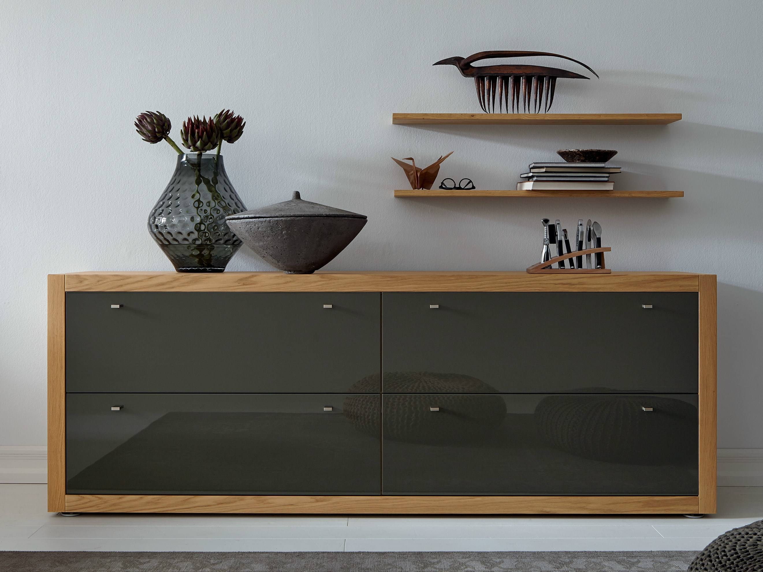 Cool Grey Oak Sideboard Design With Unfinished Wood Frames Regarding Unfinished Sideboards (View 14 of 20)