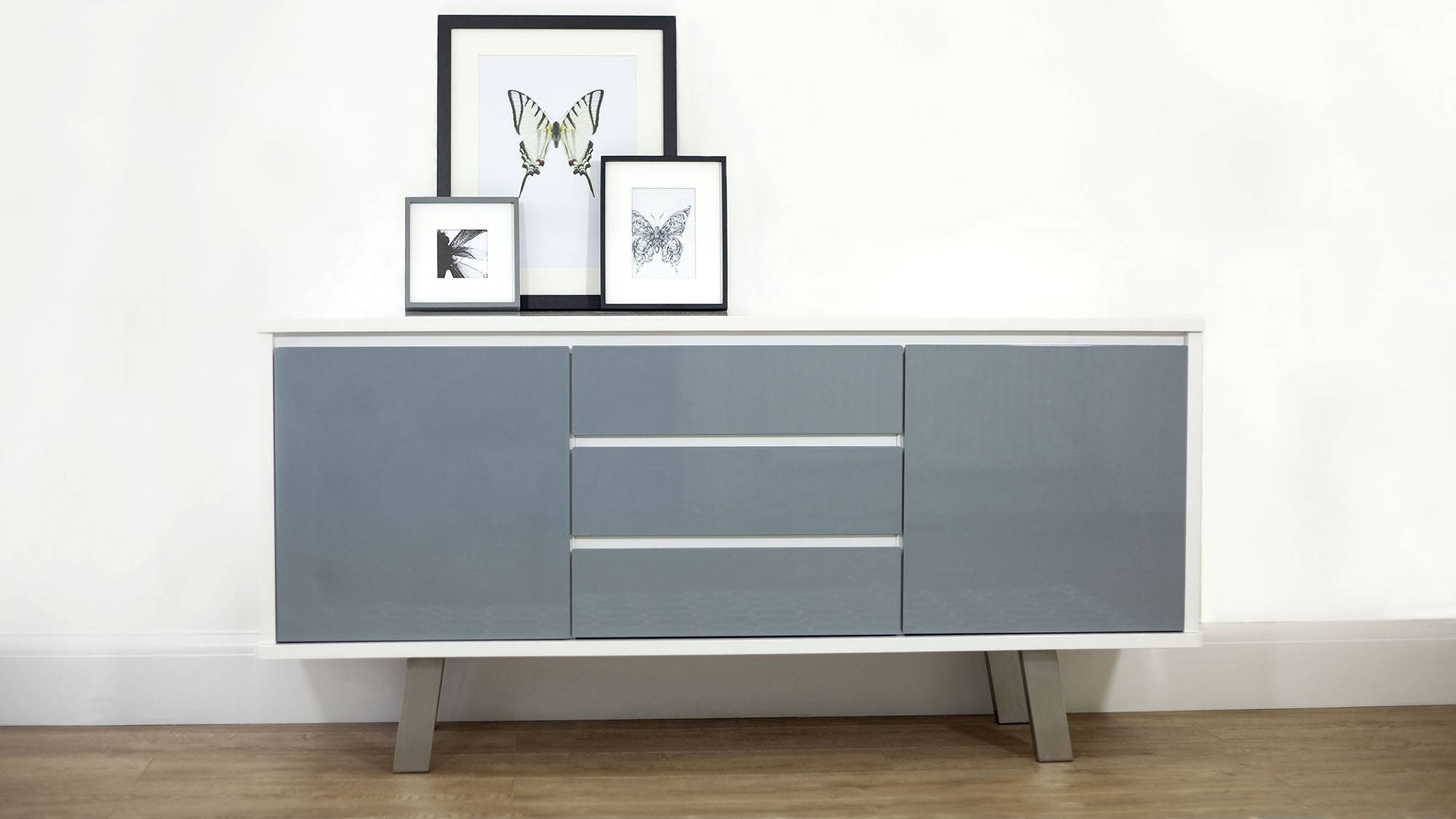 Cool Grey Oak Sideboard Design With Unfinished Wood Frames Throughout Unfinished Sideboards (#2 of 20)