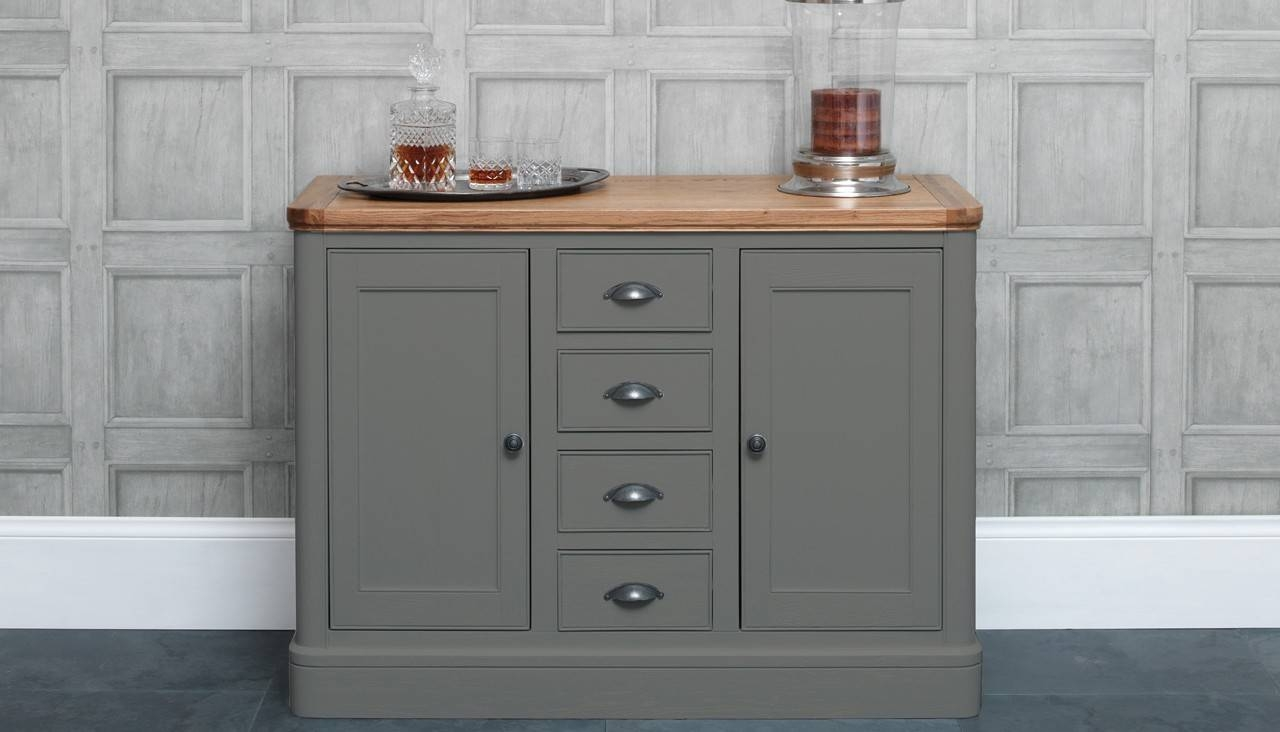 Cool Grey Oak Sideboard Design With Unfinished Wood Frames Within Unfinished Sideboards (#5 of 20)