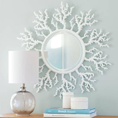Coral Framed Round Mirror Throughout White Round Mirrors (#13 of 30)