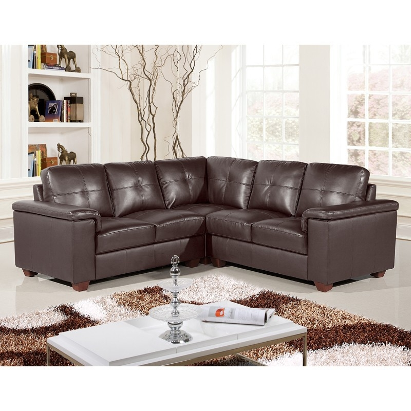 15 Collection Of Small Brown Leather Corner Sofas