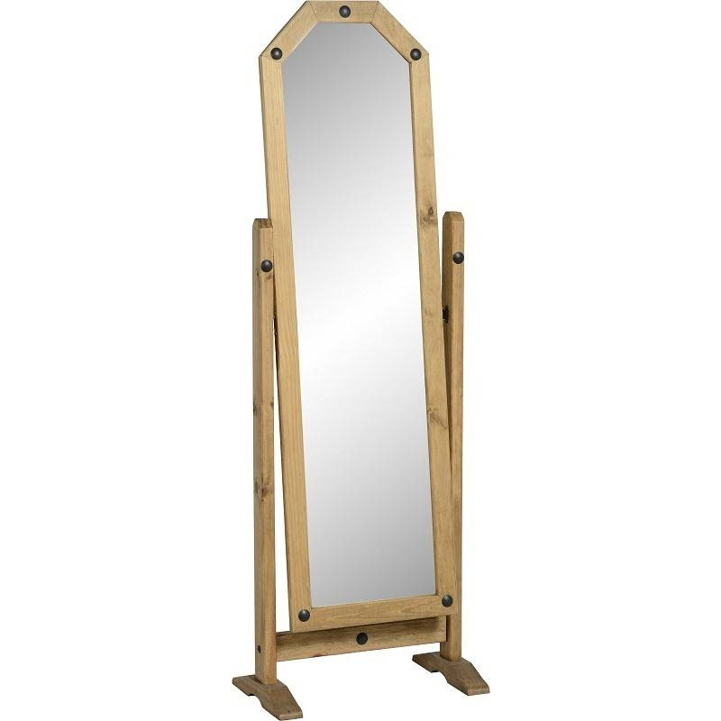 Corona Pine Free Standing Mirror (Cheval) – Default Store View With Regard To Free Standing Oak Mirrors (#5 of 15)