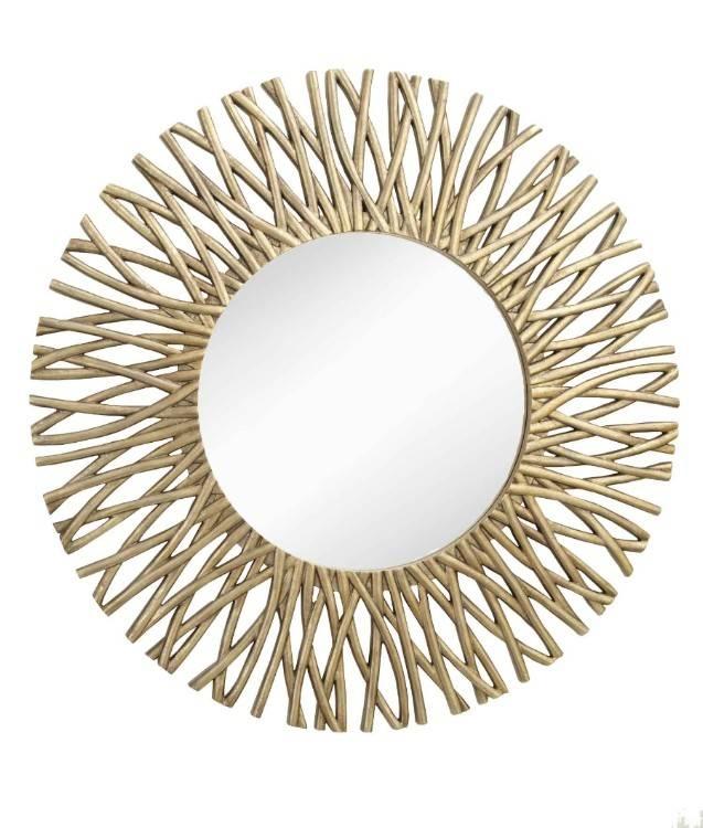 Corran Large Round Mirror Antique Bronze 126 X 126cm Corran Round With Regard To Round Antique Mirrors (View 8 of 30)