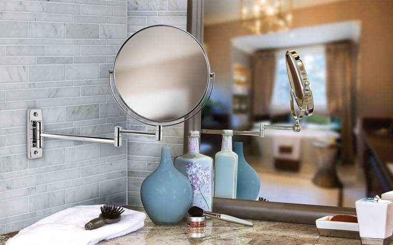 Cosmo 8 Wall Mount Mirror | Chrome Plated Mirrors, Wall Mount In Boutique Mirrors (View 18 of 30)