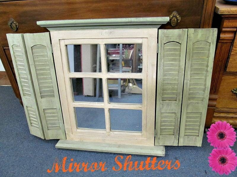 Cottage Accessory: Shabby Chic Shuttered Mirror | Alice In Antique In Shabby Chic Window Mirrors (View 20 of 20)