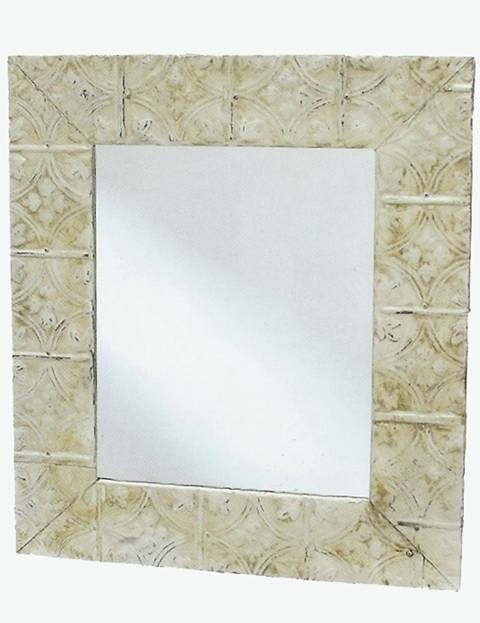 Cottage Style Living » Catalog » Wall Decor Pertaining To Pressed Tin Mirrors (#11 of 20)