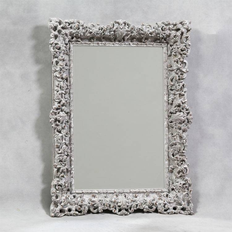 Country Grey Ornate Framed Mirror 120X90Cm Country Grey Ornate With Regard To Black Ornate Mirrors (#18 of 30)