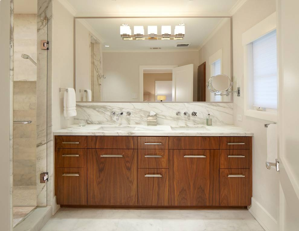 Popular Photo of Large Frameless Wall Mirrors