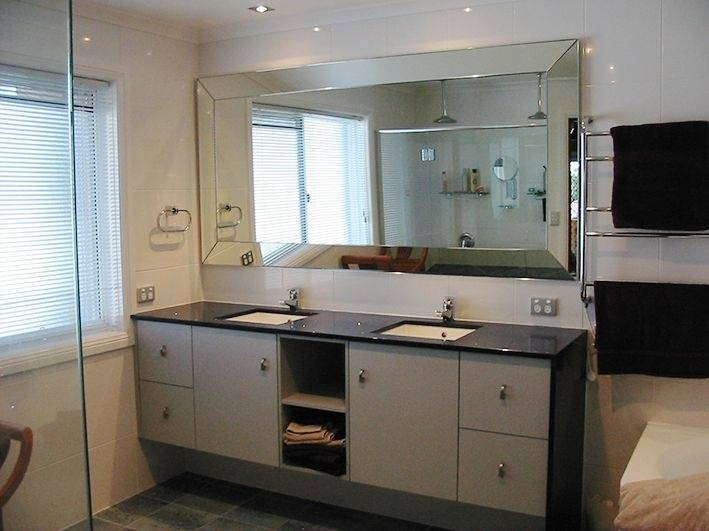 Crafty Inspiration Ideas Large Mirrors For Bathrooms Bathroom Wall Throughout Large Glass Bevelled Wall Mirrors (#6 of 20)