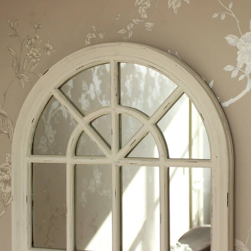 Cream Arched Window Mirror – Melody Maison® Within Arched Window Mirrors (View 3 of 20)