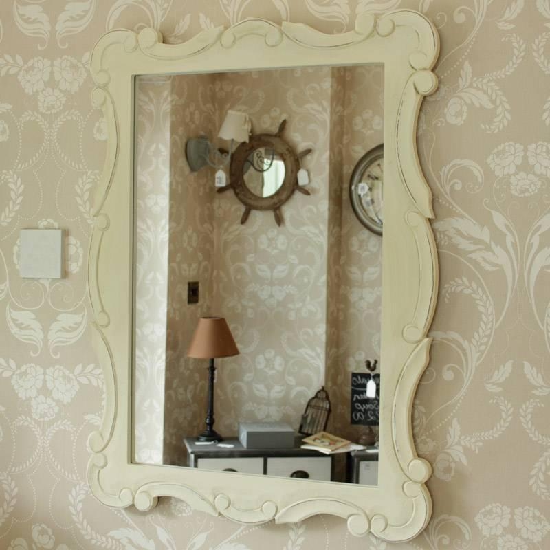Cream Distressed Wall Mirror – Melody Maison® Regarding Distressed Cream Mirrors (#19 of 30)