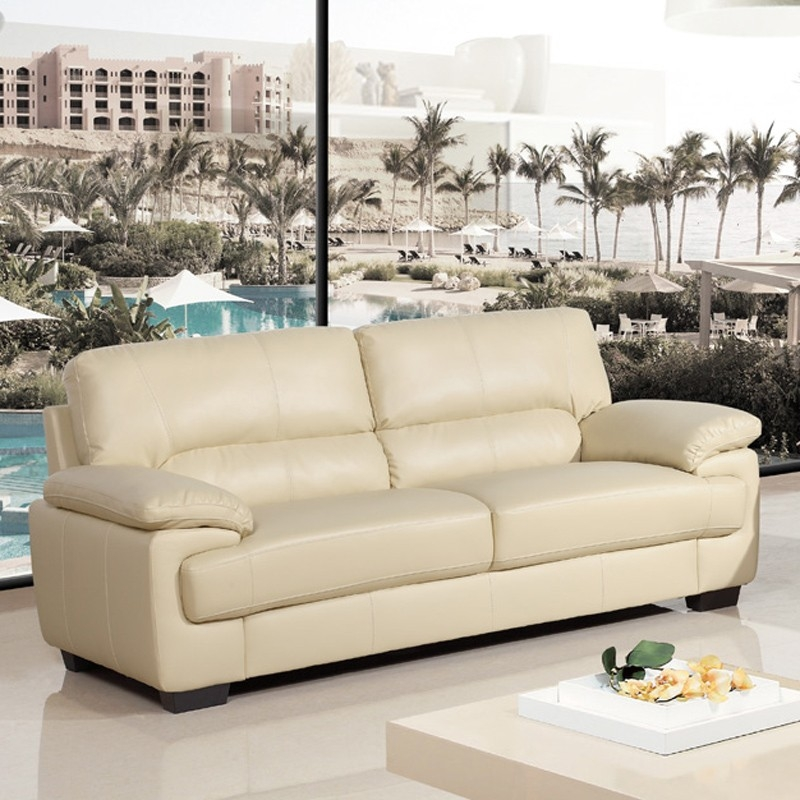 Cream Leather Sofas From 309 Simply Stylish Sofas Regarding Ivory Leather Sofas (#4 of 15)