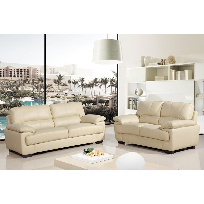 Cream Leather Sofas From The Chelsea Collection Simply Stylish Sofas With Regard To Ivory Leather Sofas (#5 of 15)