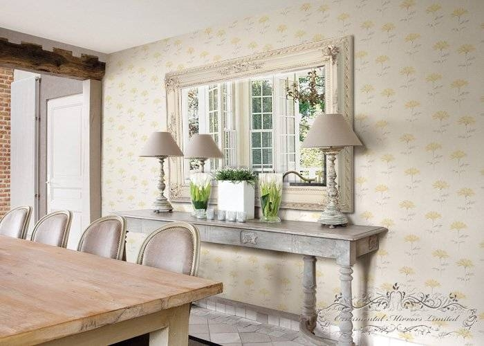 Cream Ornate Wall Mirror Pertaining To Cream Ornate Mirrors (#11 of 20)