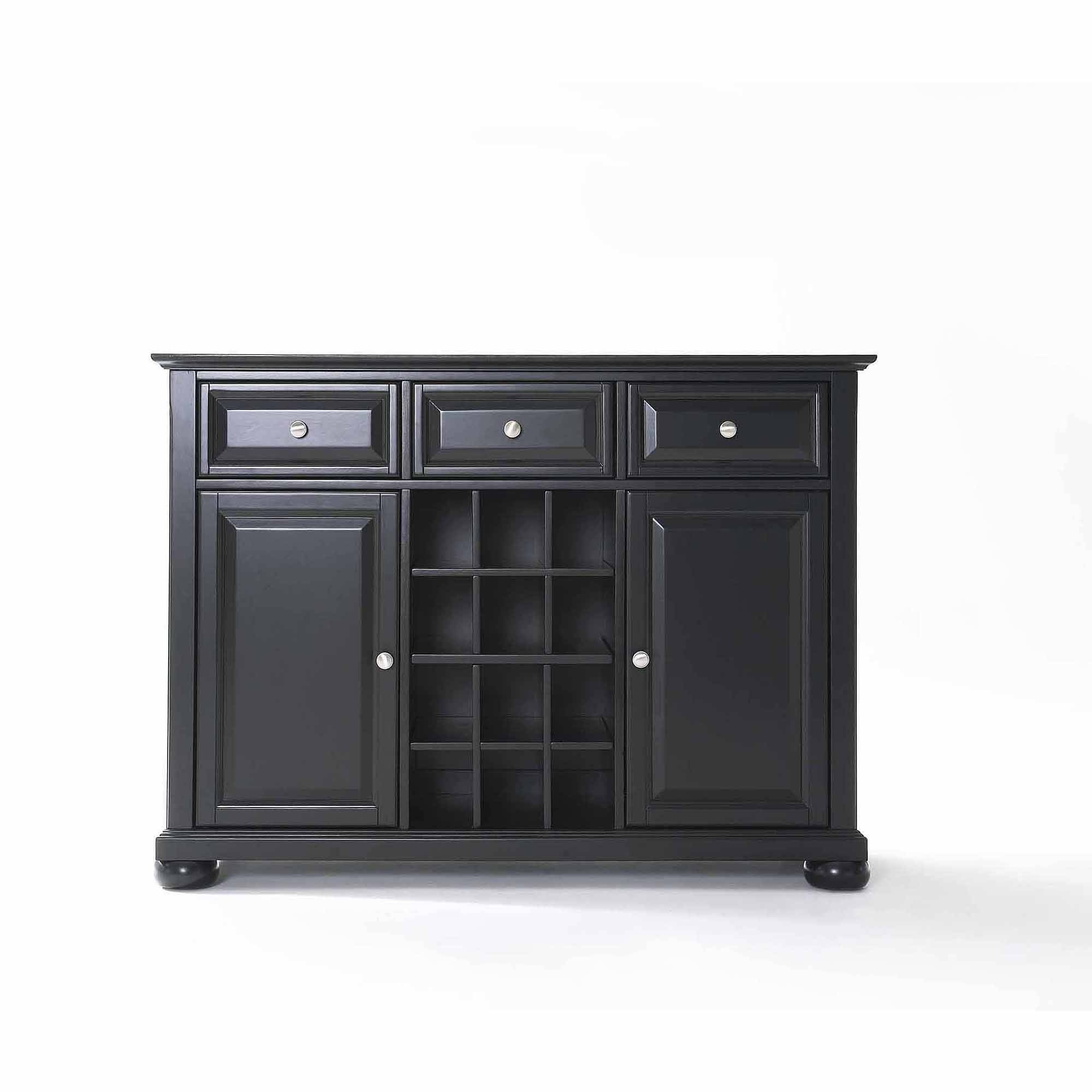 Crosley Furniture Alexandra Buffet Server And Sideboard Cabinet With Regard To Black Wood Sideboard (#7 of 20)
