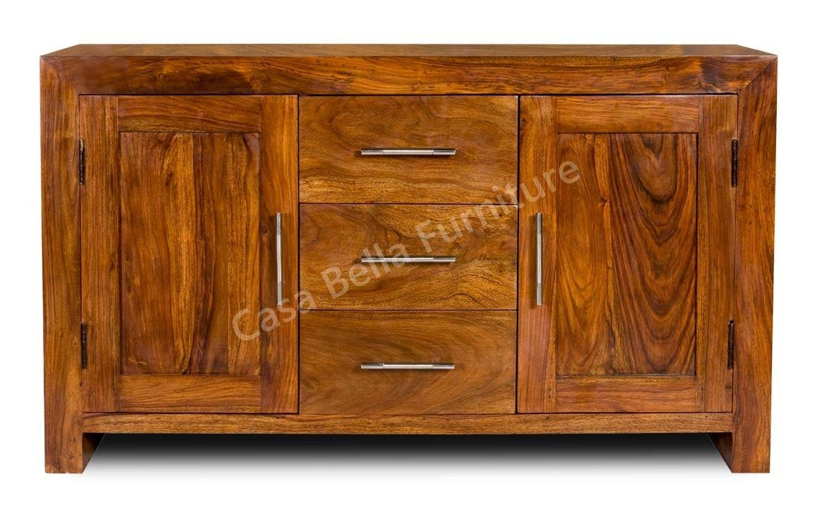 Cuba Sheesham Sideboard   Casa Bella Furniture Uk Pertaining To Sheesham Sideboards (View 15 of 20)