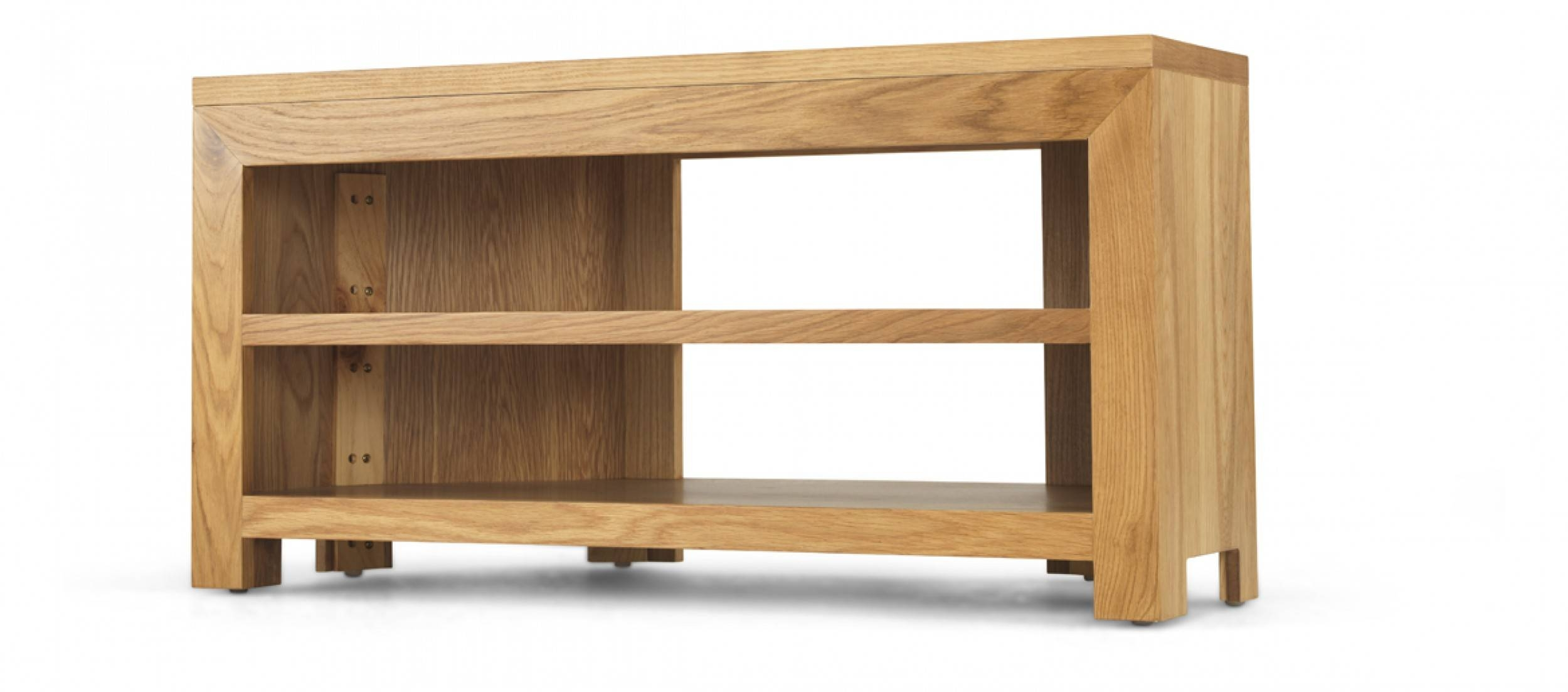 Cube Oak Open Corner Tv Unit | Quercus Living Throughout Corner Sideboard Unit (View 11 of 20)