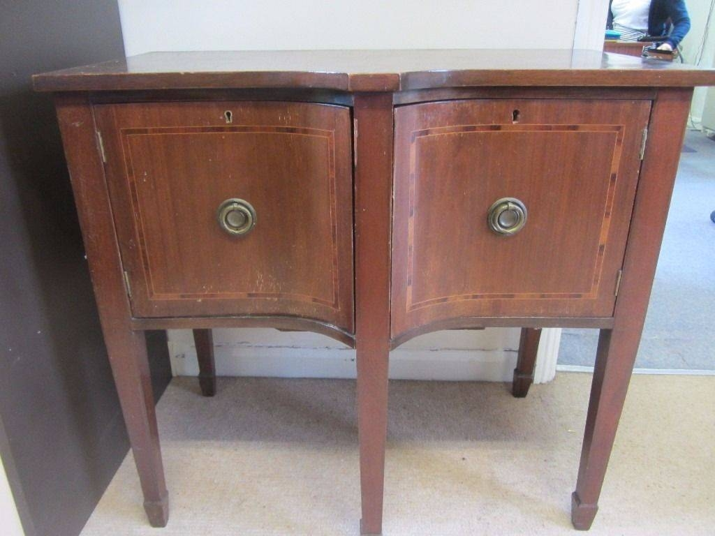 Curved Bowed Shaped 2 Large Doors With Ring Fastenings Console Inside Hall Sideboard (View 4 of 20)