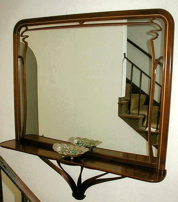 Custom Art Nouveau Mirror Within Large Art Deco Wall Mirrors (#18 of 20)