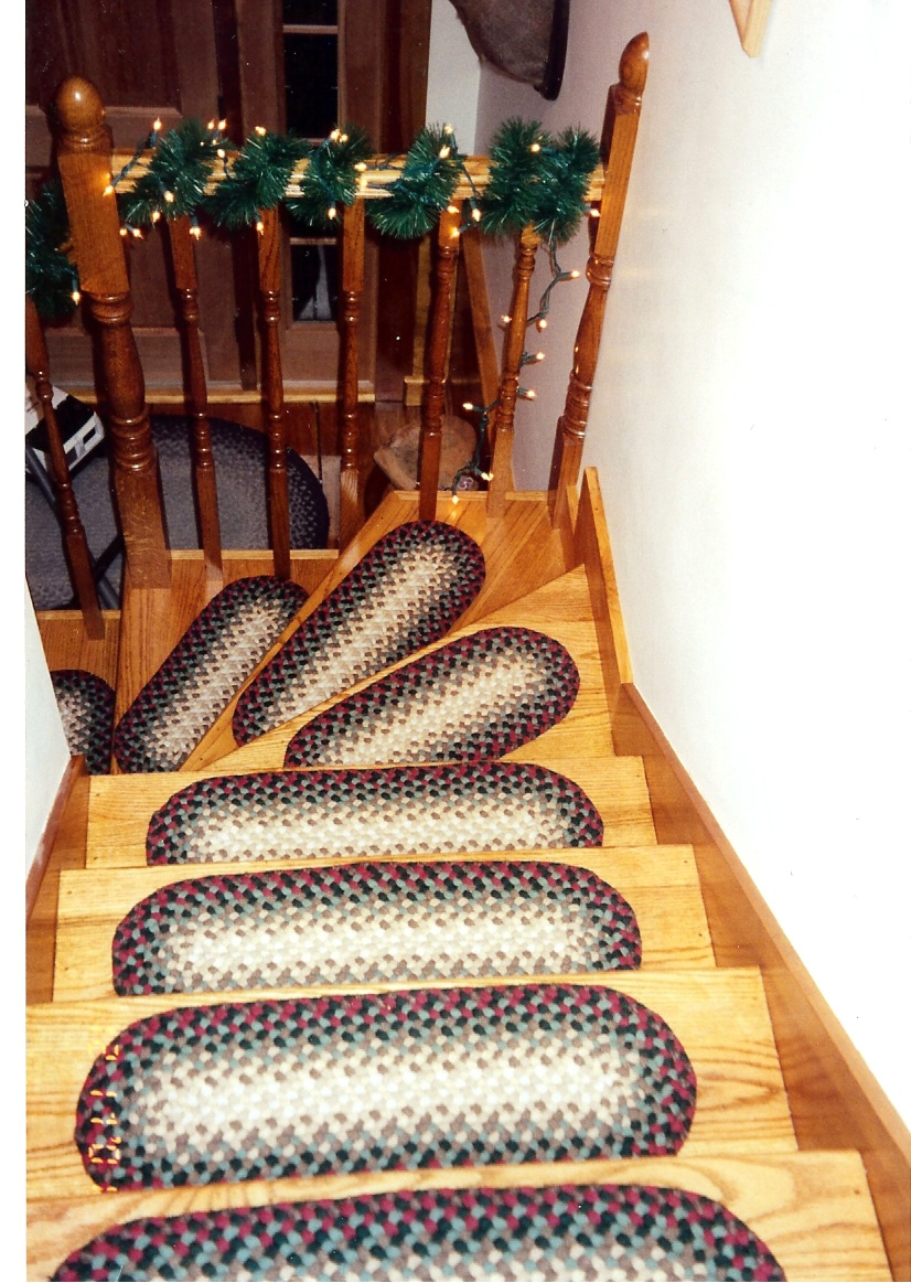 Custom Braided Rugs Country Braid House Throughout Braided Carpet Stair Treads (#6 of 20)